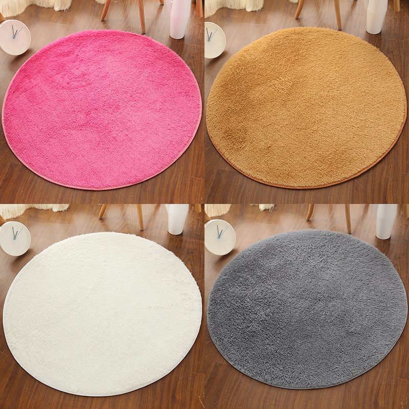 Silk Carpet, Circular Mat, Living Room, Bedroom, Carpet, Foot Mat, Computer Chair Mat, Yoga Mat, Short Wool Carpet, Floor Mat
