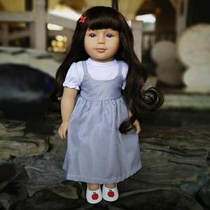 Amerykańska lalka zabawki 18 cali 45cm silikonowa lalka, która wygląda prawdziwe prezenty urodzinowe moda wypchana lalka zabawki Playmate Brinquedo