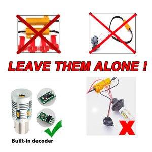 Image 3 - 2 pièces Bau15s 7507 PY21W LED Canbus, sans erreur, Flash, 2000lm BA15S P21W 7506 1156 LED, ampoule de Signal 6000k, blanc/ambre, jaune