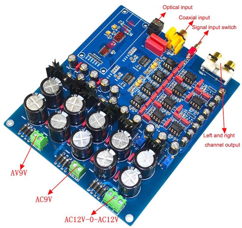 Duplo-chip pcm1794 + ak4113 luxo decodificador dac