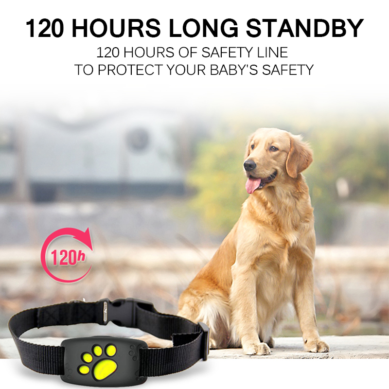 Waterproof Pet GPS Tracker Collar Dogs Cats Dog GPS Positioner Locator Device USB Cable Rechargeable Pet Dog Security Fence