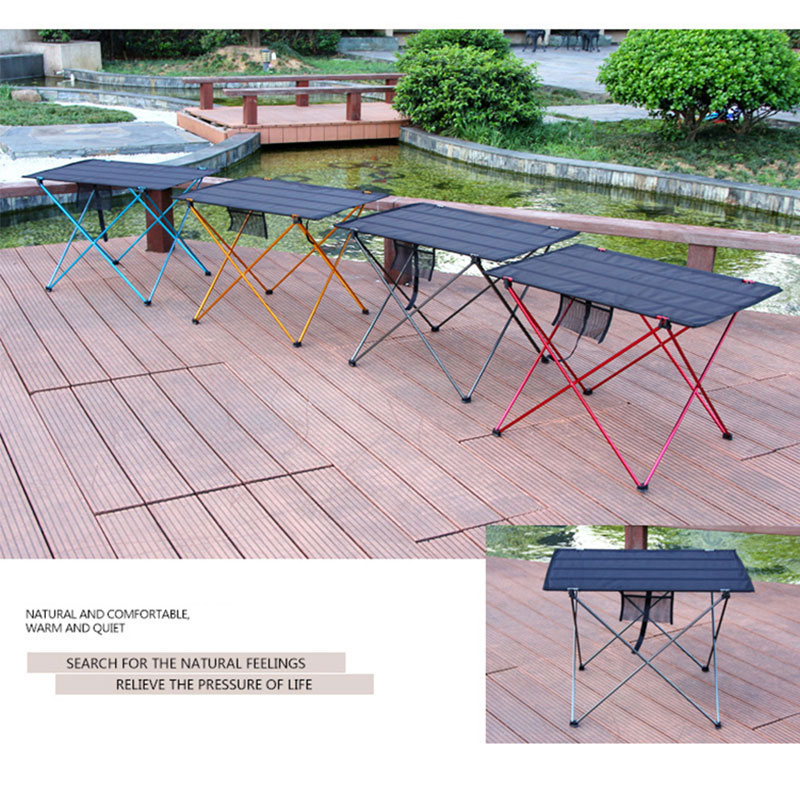 Image 2 - Portable Foldable Table Camping Outdoor Furniture Computer Bed Tables Picnic Aluminium Alloy Ultra Light Folding Desk FurnitureOutdoor Tables   -