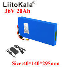 LiitoKala 36V 20AH Electric Bike Battery 20A BMS Lithium Battery Pack 36V with Ebike Battery XT60 plug with 42V 2A charger