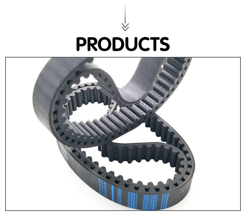 Diente de correa dentada correa plana 512-8m-20 división 8mm 64 dientes HTD//rpp ancha 20mm