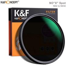 K&F Concept ND2-32 Fader ND filtre 52mm 62mm 67mm 72mm 77mm NO