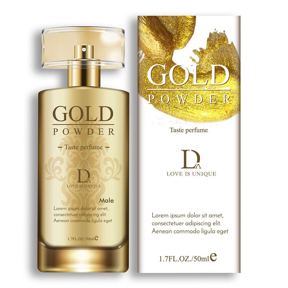 VIBRANT GLAMOUR 50ml Charming Gold Powder Perfume Sexy Flirt Perfumes Deodorant Fragrance For Men & Women Sex