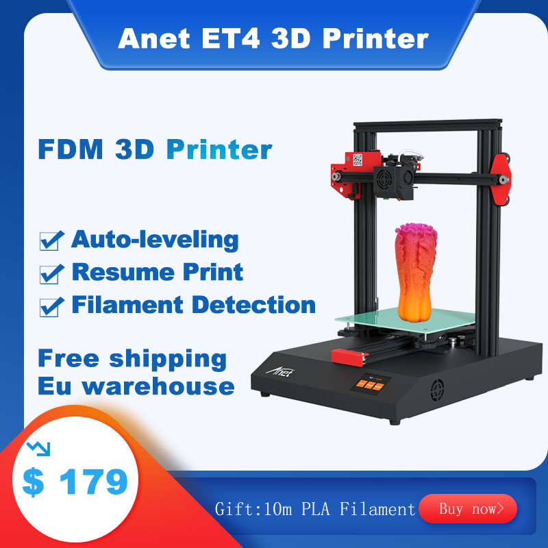 Anet ET4/ET5X/ET4pro <font><b>3D</b></font> Printer kit Impressora <font><b>3d</b></font> With High Precision Extruder Resume Printing with 10m PLA Filament image