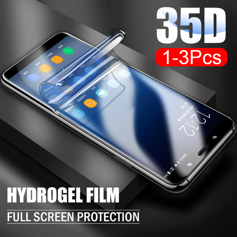 3Pcs 35D Protection Hydrogel Film For Samsung S10 S9 S8 Plus S7 Edge Cover Screen Protector For Samsung Note 8 9 S8 S9 Soft Film