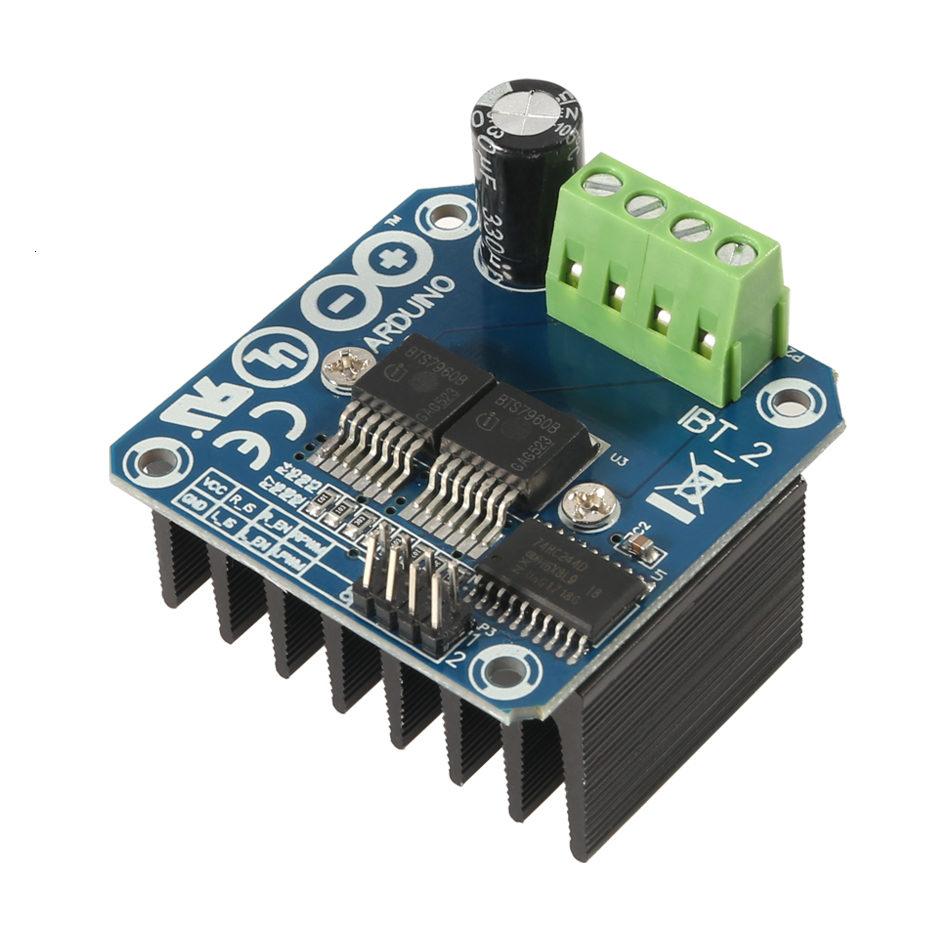 New Double Bts7960 43a H-bridge High-power Motor Driver Module/smart Car/