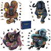 3D Wooden Puzzle Mythical Animal Puzzles Boutique Gift Box Packaging DIY Crafts Gift For Adult Kids Fabulous Montessori Toy Gift