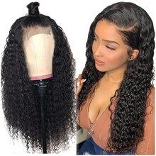 Lockiges Menschliches Haar Perücke Brasilianische Lockige Spitze Front Menschliches Haar Perücken Für Schwarze Frauen Remy 13 × 6 Transparent HD spitze Perücken Menschliches Haar