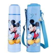 Disney 500ml Children Thermos Bottles With Cup Kids Boys Gir