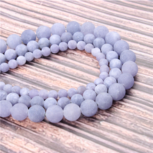 Hot?Sale?Natural?Stone?Frosted Purple Aquamarine15.5?Pick?Size?6/8/10/12mm?fit?Diy?Charms?Beads?Jewelry?Making?Accessories