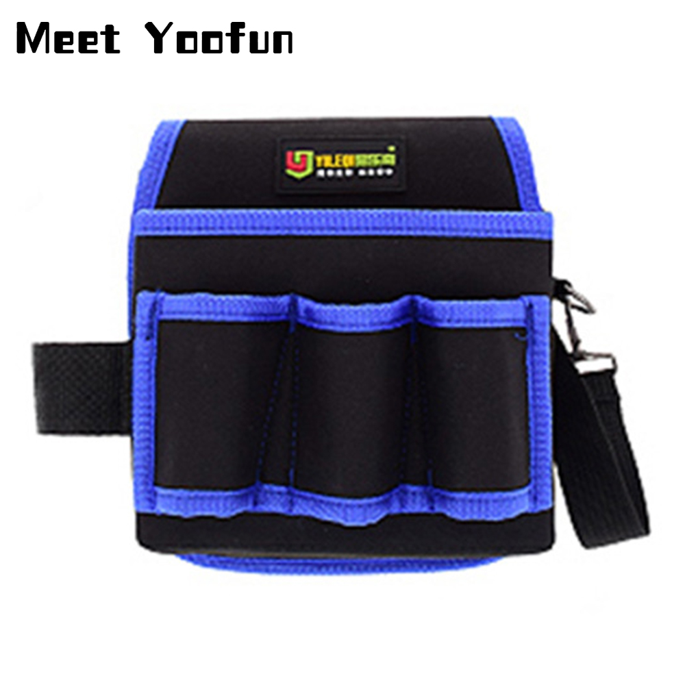Multifunction Oxford Cloth Folding Wrench Bag Waist Pack Tool Roll Storage Pocket Tools Pouch Portable Case Organizer Holder
