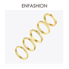 ENFASHION Multilayer Rings For Women Stainless Steel Gold Color Stack Finger Ring Fashion Jewelry Wholesale Anillos Mujer R4011(China)