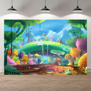 Image 5 - NeoBack Vinyl Enchanted Magic Forest Mushroom Baby Fairy Tale Land Princess Birthday Photocall Banner Photography Backgrounds