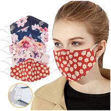 Adult Woman Floral Facemaks Adjustable Washable Safet Protect Washable Face Maks Face Maks Reusable Mascarillas Hijab Scarf(China)