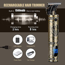 Beard Trimmer Hair-Clipper Bald Cordless Razor Mower T9 Carving And USB for Men Edg
