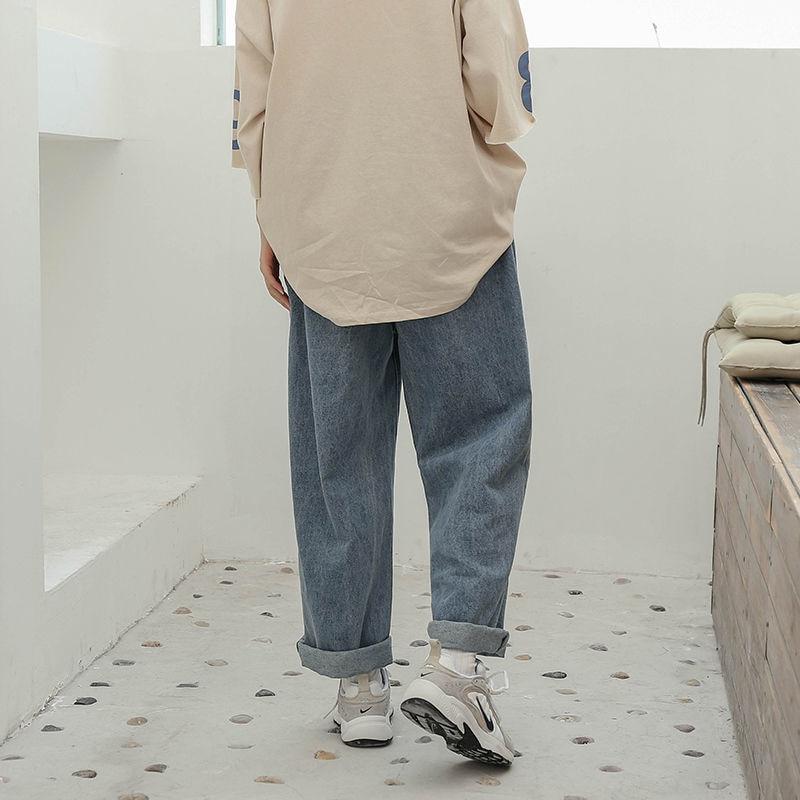Denim Pants Chic High Waist Women Retro Harajuku Wide Leg Zipper Fly Akle-Length Jeans Pants Push Up Flare Trousers Streetwear 6
