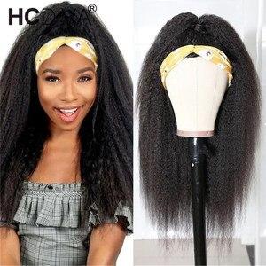 Image 1 - Кудрявый прямой парик 13х1, человеческие волосы спереди, парики для женщин, предварительно отобранные с волосами ребенка, бразильские Реми, итальянский парик яки
