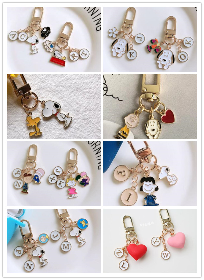 New 1 Set Cartoon Japanese Anime Peanut Dogs Cute Keychain Jewelry Accessories Key Chains Pendant Gifts Favors