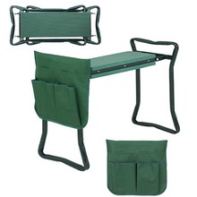 Folding Garden Kneeler and Seat with Tool Pouches EVA Foam Pad Protects Your Knees Sturdy and Lightweight Planting Garden Tool