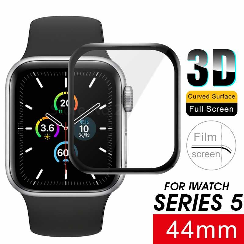 3D Full Cover Tempered Glass For Apple Watch Series 5 40 44 mm Screen Protector Premium Explosion Proof Glass For iwatch 5 40 44
