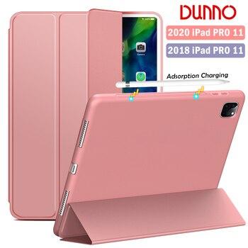 цена на New iPad Pro 2020 Case For 2018 iPad Pro 11 Case Soft silicone 2020 iPad Pro 11 2nd Gen Cover Auto Sleep/Wake Smart Case A2228