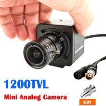 1200TVL Mini Color CMOS CCTV Analog Camera with 2.8-12mm Varifocal Manual Zoom Djustable and 4mm 8mm Fixed lens Metal Box Camera