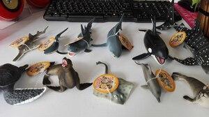 Image 2 - Originele oceaan sealife dieren sets bule whale shark jaws tijger killer whale lederschildpad kids leren speelgoed kinderen gift