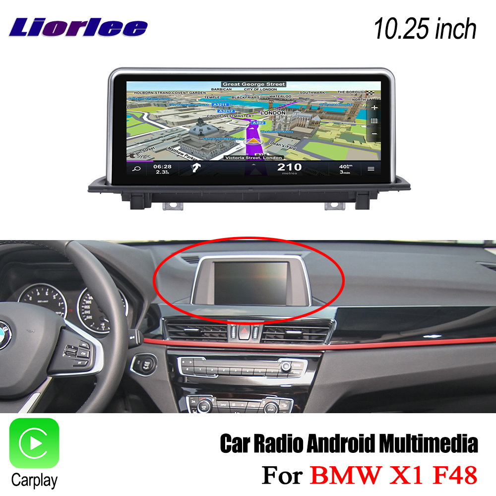 Liorlee Car HD Screen Display TV For <font><b>BMW</b></font> X1 F48 2016-2017 Car <font><b>Android</b></font> Radio Audio Video Stereo GPS Navigation Multimedia System image
