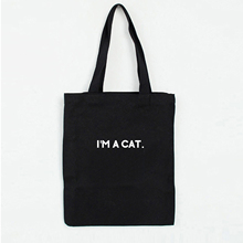 Shoulder-Bags Tote Canvas Foldable Print Fashion Casual Letter Cat Graphics Outdoor Simple'm