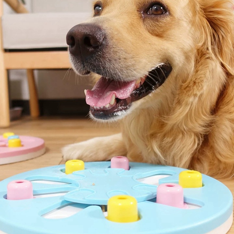 Pet ABS Slow Feeder Leak Food Toy Puzzle Game Disc Training Interactive Toy Practical Pet Training Supplies