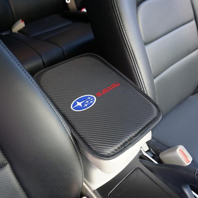1 Uds cubiertas con almohadilla de apoyabrazos de coche, reposabrazos de coche, cojín de protección de almacenamiento para Subaru Impreza Forester Tribeca XV BRZ, accesorios