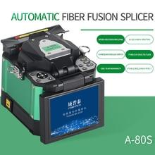 A 80S máquina de empalmador de fusión automático, empalmador de fibra óptica, máquina de fusión, color verde