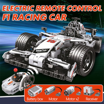 ERBO 729pcs City F1 Racing Car Remote Control Technic RC Car Electric truck Building Blocks bricks Toys For Children gifts 2