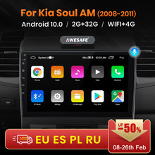 Awesafe PX9 Voor Kia Soul Am 2008 2009 2010 2011 Auto Radio Multimedia Video Player Gps Geen 2din 2 Din android 10.0 2Gb + 32Gb
