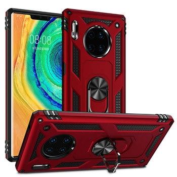 Funda de lujo armadura metálica Magentic para Huawei P30 Honor 10 Lite Mate 20X Lite 30 Pro Y7 P Smart 2019 funda de teléfono a prueba de golpes