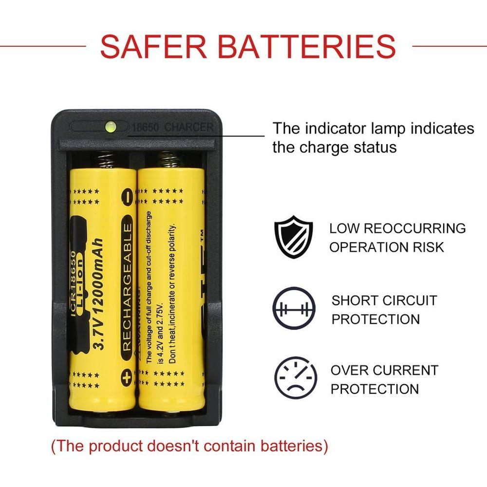 Chargers AC 110-240V 18650 4.2V Rechargeable Li-ion Dual Battery ...