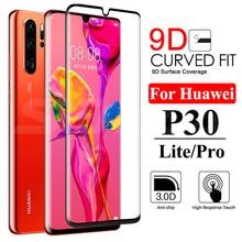 9D 保護ガラス Huawei 社 P30 P20 プロ P20 P10 Lite プラス P スマート 2019 フルスクリーンプロテクター強化ガラスフィルムケース