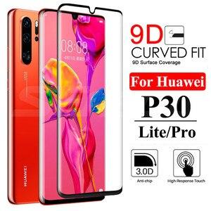 Image 1 - Защитное стекло 9D для Huawei P30 P20 Pro P20 P10 Lite Plus P Smart 2019, полноэкранная защита, закаленное стекло, пленка, чехол