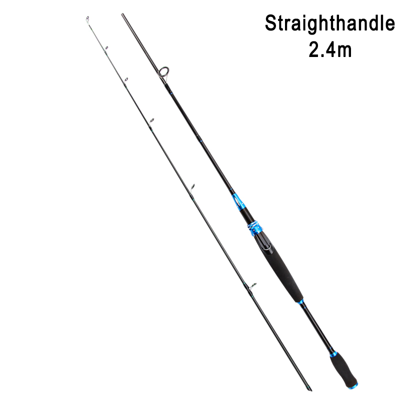 Portable Spin Fishing Rod Carbon Fiber Lure Spin Fishing Pole For Saltwater Freshwater Sea   BHD2