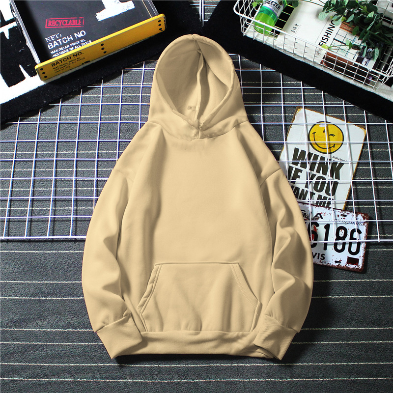 Hooded Sweatshirt Men S-4XL Jumpers Soft Hoodie Light Plate Long Sleeve Pullover Solid Color And Women Couple Clothes
