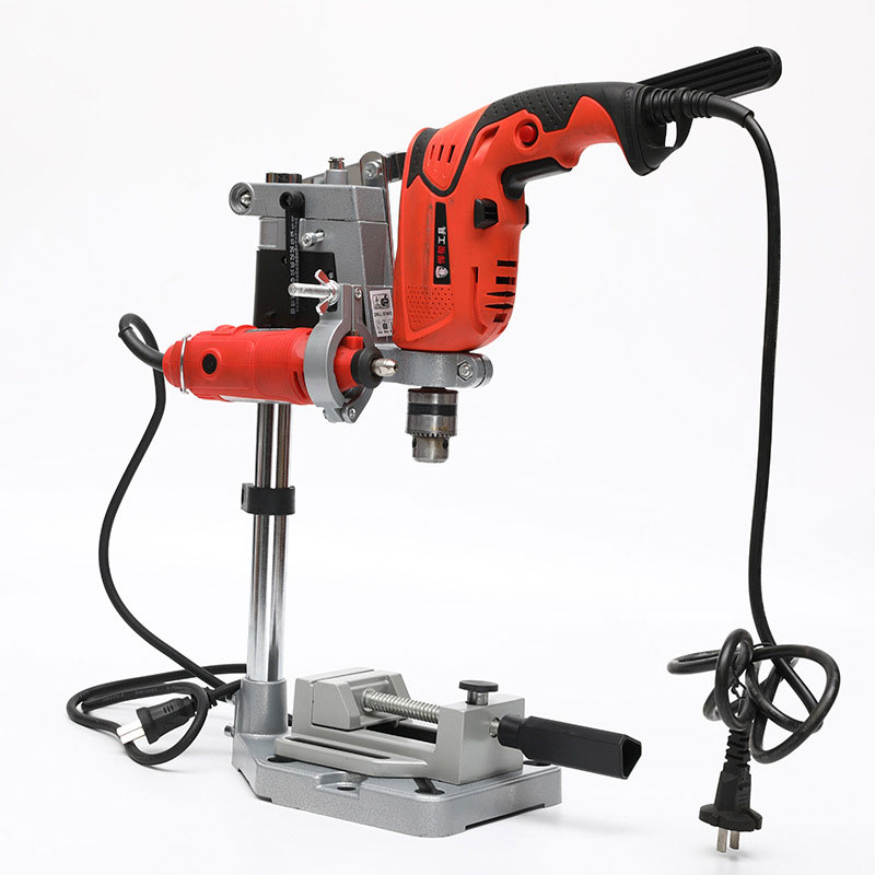 Double-head Rack Stand Clamp Electric Drill Holding Holder Bracket Grinder Accessories For Woodworking Rotary Tool