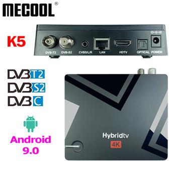 Procesor Amlogic S905X3 Android 9 0 TV pudełko DVB T2 S2 C MECOOL K5 2GBRAM + 16GBROM 2 4G 5G Wifi BT H 265 HEVC Media odgrywają TV pudełko tanie i dobre opinie SKYSAT CN (pochodzenie) DIGITAL Support