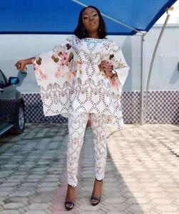 Image 4 - Afrika Dashiki yeni moda elbise üst ve pantolon süper elastik parti artı boyutu kadın elbiseleri