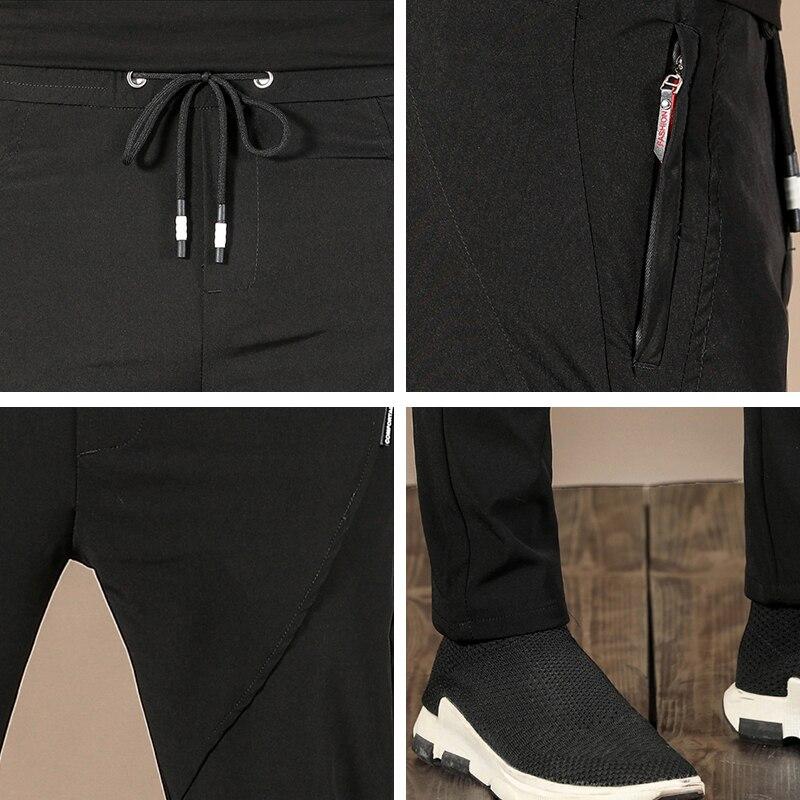 Black Sports Pants Men 2021 Summer New Breathable Quick Dry Casual Zipper Pocket Sweatpants Men Brand Fashion Loose Men's Pants 6
