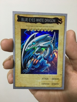 Yu Gi Oh Green Eye White Dragon SR Face Flash BANDAI Bandai DIY Card Flash Card Toy Hobby Series Game Collection Anime Card