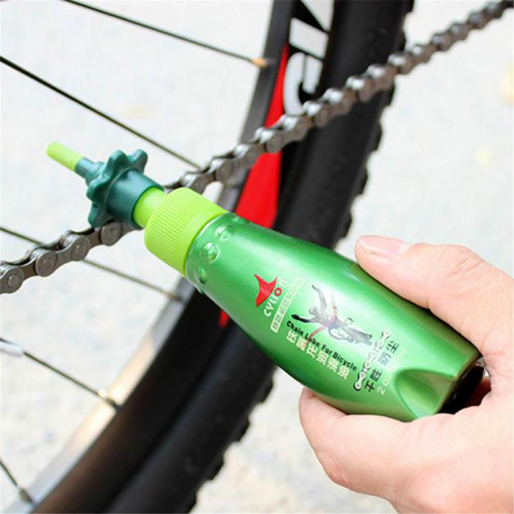 60ML Bike Teflon Dry Lubricating Lube Bicycle Chain Oil Bearing Flywheel Brakes Rust Diagnostic Tool Mountain Bike Park Oil Tool