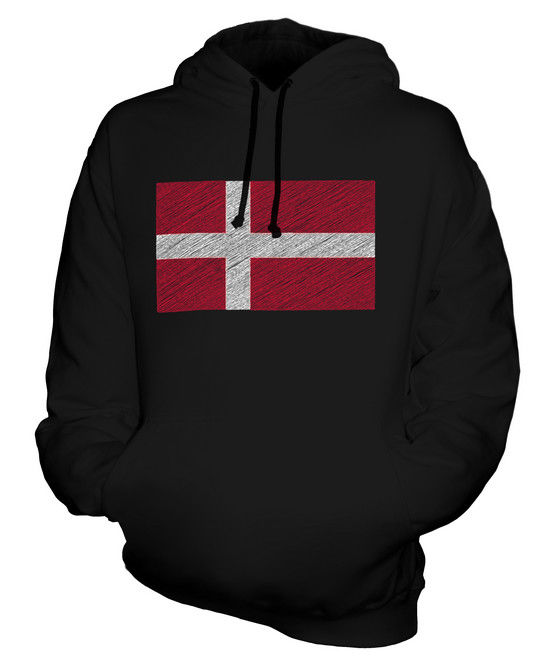 Danish Doodle Flag Neutral Hooded Top Gift Danmark Denmark Women Men Clothes Coat Hoodie